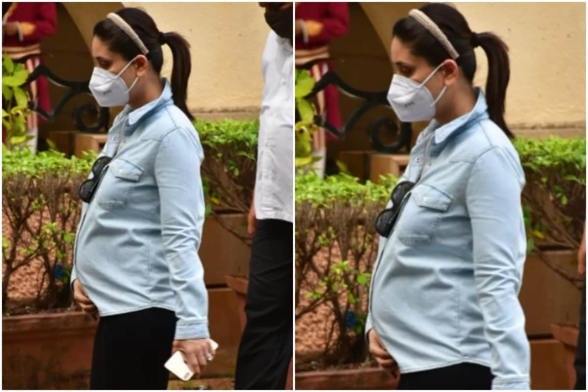 Kareena Kapoor Khan Puts Baby Bump on Full Display as She Steps Out in Mumbai, See Pics