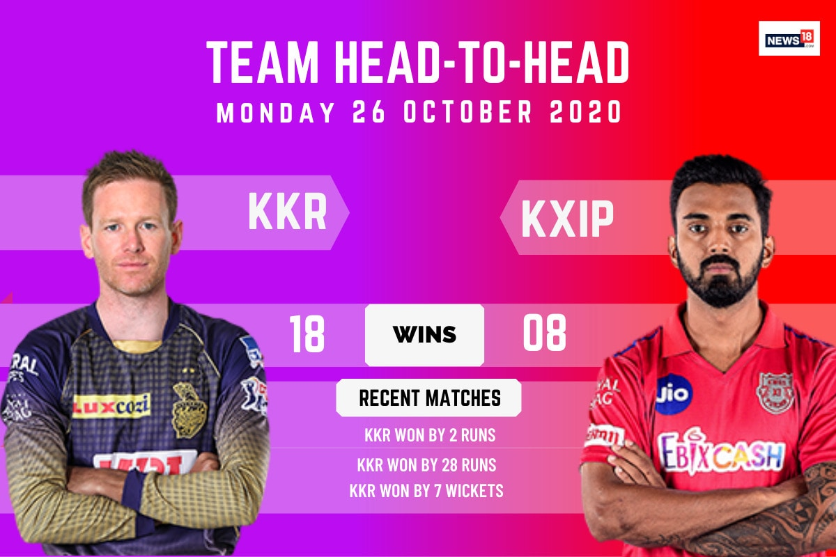 IPL 2020: KKR vs KXIP, Match 46 Schedule and Match Timings in India: When and Where to Watch Kolkata Knight Riders vs Kings XI Punjab Live Streaming Online