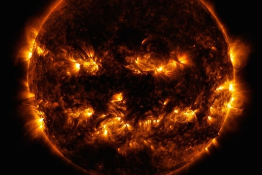 According to NASA, the 'active areas' look brighter because they are spots of the highest light and energy emittance. (Credit: NASA/Twitter)
