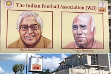 Great Footballers Chuni Goswami, PK Banerjee, Sailen Manna Hoardings Get Prominence During Puja in Kolkata