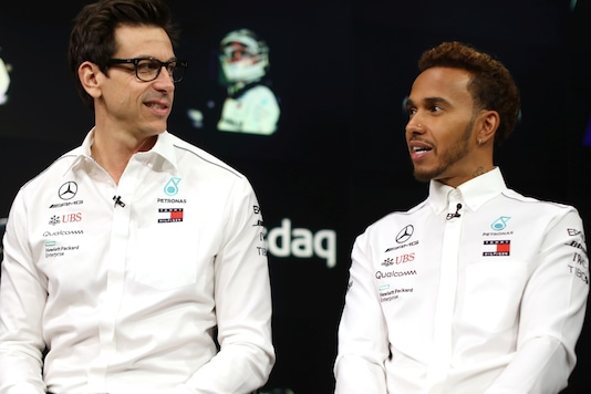 File photo of Lewis Hamilton (R) and Toto Wolff (Photo Credit: Reuters)