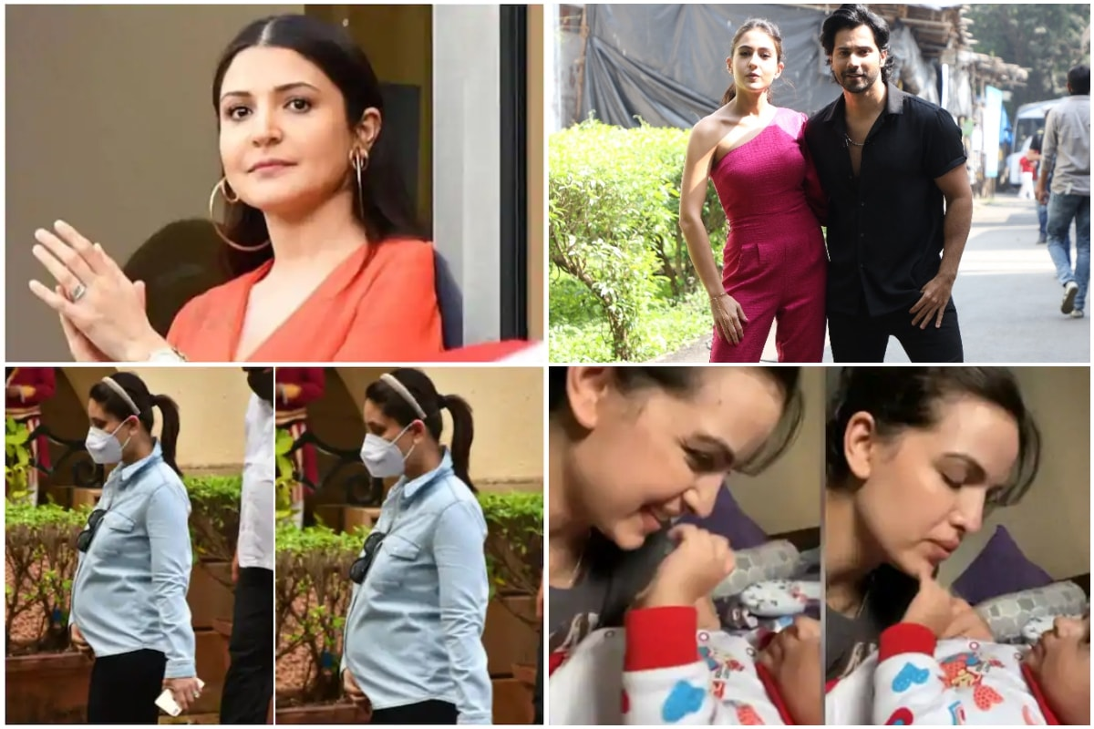 Pregnant Anushka Sharma Looks Pretty in Red, Sara Ali Khan-Varun Dhawan Begin Coolie No 1 Promotions