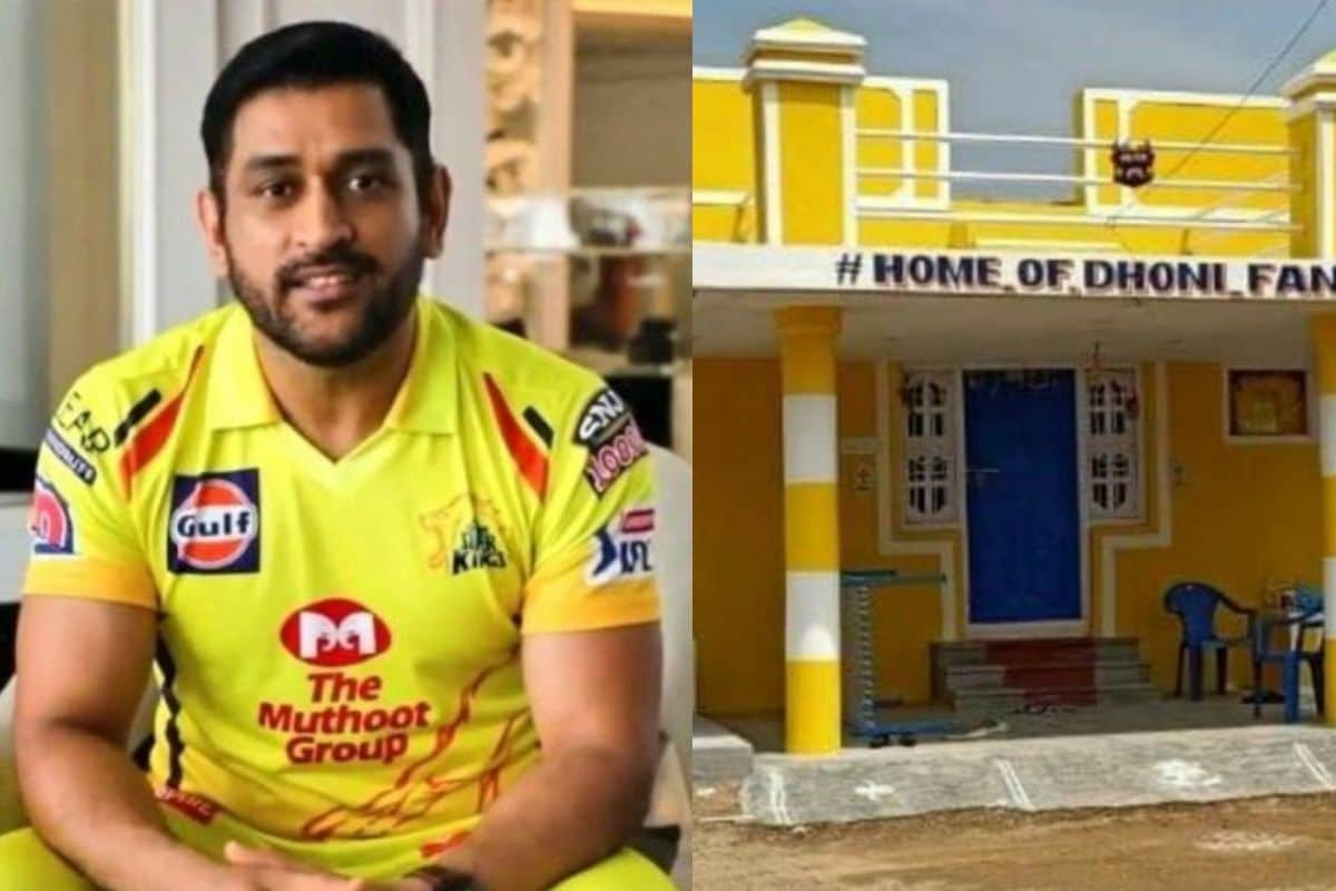 Dhoni Responds to Die-hard Chennai Super Kings Fan Who Painted Thala's Portrait on House