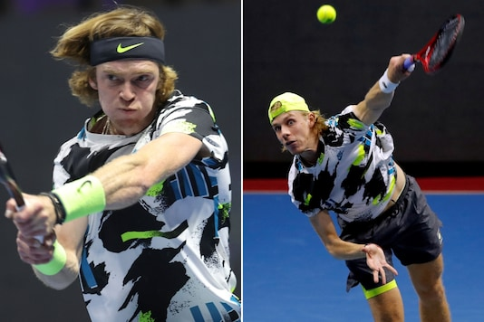 Andrey Rublev (L) and Denis Shapovalov (Photo Credit: ATP Tour Twitter and Reuters)