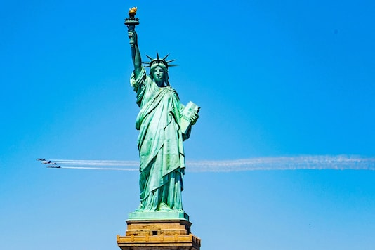 The Statue of Liberty at the Liberty Island has been a constant tourist attraction in New York. (Credit: REUTERS)
