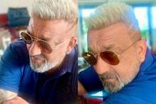 Sanjay Dutt Rocks New Platinum Blonde Hair, Take a Look