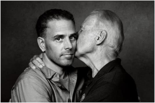 An image of Joe Biden kissing his 50-year-old son has opened floodgates on Twitter | Image credit: Twitter