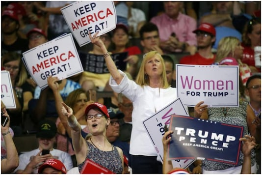 Donal Trump recently reached out to suburban women in US with the promise of giving their husbands jobs | Image credit: Reuters