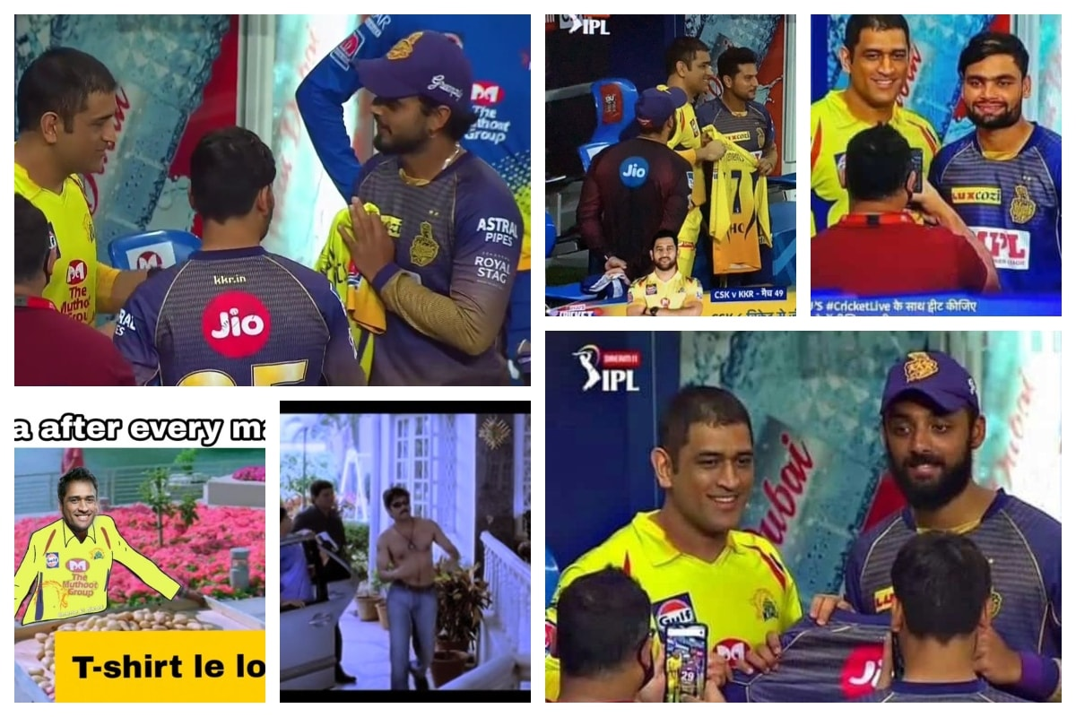 KKR vs CSK IPL 2020: MS Dhoni Retirement Rumours Fuel Again as Chennai Skipper Hands out Signed Jerseys to Kolkata Player After Win