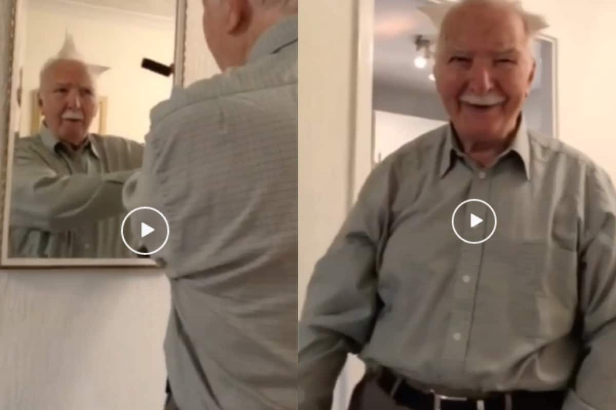 'Growing Up is Optional': Grandpa Giving Himself a Rockstar Hairdo With Vacuum Cleaner is Too Pure