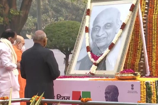 Presient Ram Nath Kovind, Hoe Minister Amit Shah and Health Minister Dr Harsh Vardhan pay their tributes to Sardar Vallabhbhai Patel on his birth anniversary.