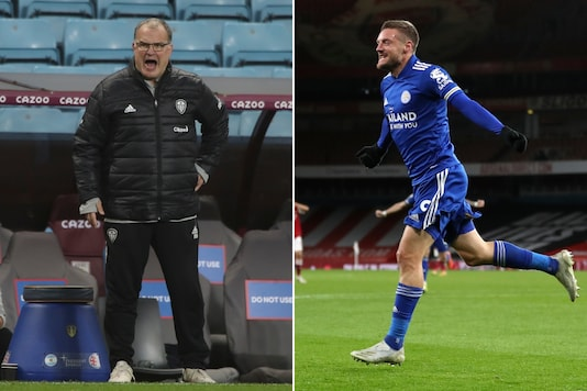 Marcelo Bielsa (L) and Jamie Vardy (Photo Credit: AP)