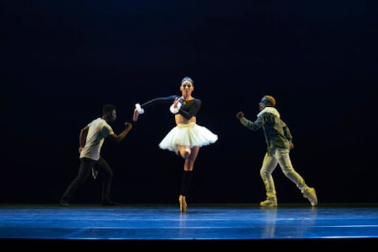 This photo released by CLI Studios, Inc. shows Tiler Peck, a principal dancer with New York City Ballet, who has curated a virtual evening of dance called
