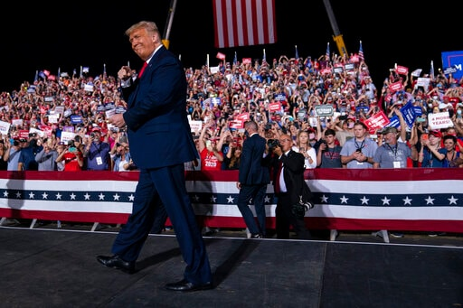 The Latest: Trump Tells Rally About '60 Minutes' Interview