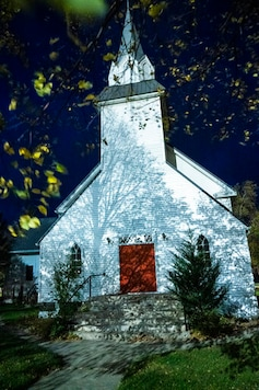The church the Asatru Folk Assembly bought and are requesting a permit to use as a regional church, is seen Wednesday, Oct. 14, 2020, in Murdock, Minn. It currently only has a residential permit. (Renee Jones Schneider/Star Tribune via AP)