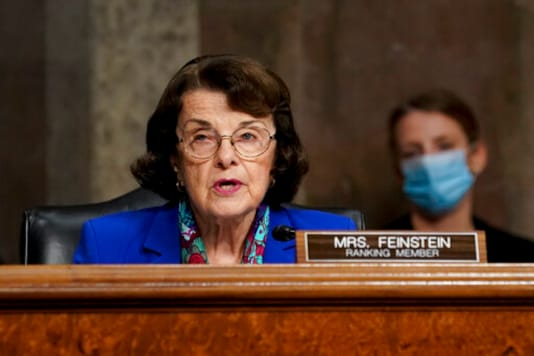 Sen. Dianne Feinstein, D-Calif., makes an opening statement during a Senate Judiciary Committee hearing on Capitol Hill in Washington, Wednesday, Sept. 30, 2020, to examine the FBI