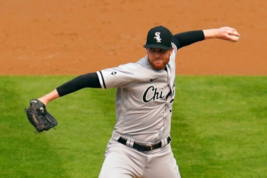 Chicago White Sox's Aaron Bummer pitches against the Oakland Athletics during the second inning of Game 3 of an American League wild-card baseball series Thursday, Oct. 1, 2020, in Oakland, Calif. (AP Photo/Eric Risberg)