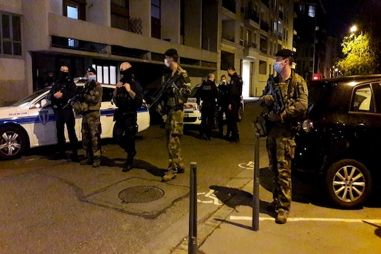 Police secures a street after a Greek Orthodox priest was shot and injured at a church in the centre of Lyon, France October 31, 2020. REUTERS/Cecile Mantovani - RC2UTJ9IUIGY