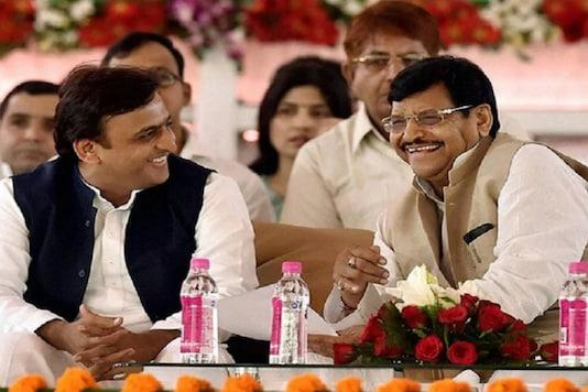 File photo of Shivpal Yadav with Akhilesh Yadav