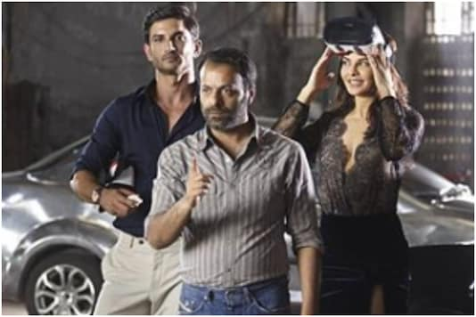 Jacqueline Fernandez and Sushant Singh Rajput with 'Drive' director