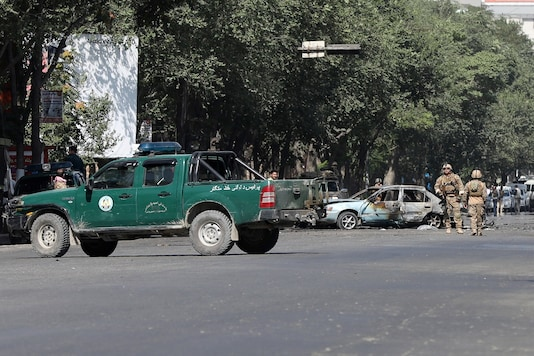 File Photo: Members of Afghan security forces inspect the site of a blast near Kabul University in Kabul, Afghanistan July 19, 2019. (Reuters)