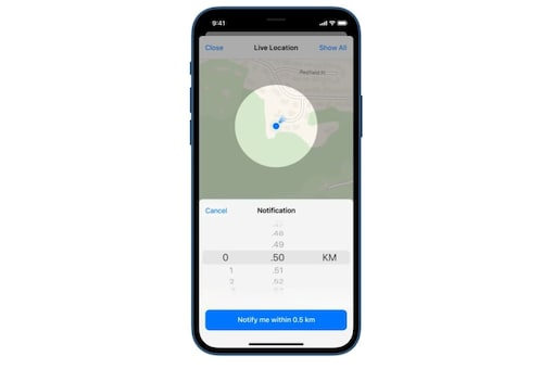 Telegram Live Location distance alerts now rolling out.