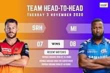 IPL 2020: Mumbai Indians vs Sunrisers Hyderabad – Head to Head Record