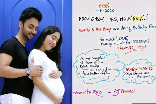 Amrita Rao and RJ Anmol Invite Name Suggestions for Their Newborn, Netizens Oblige
