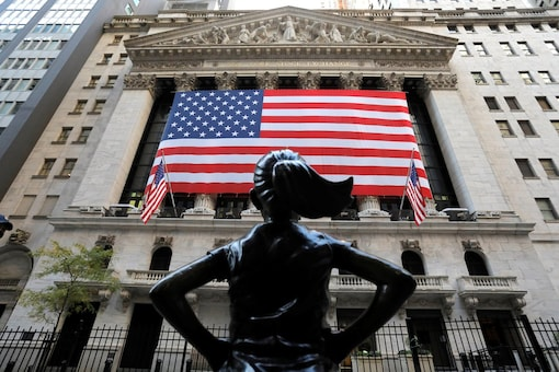 The Fearless Girl statue is seen outside the New York Stock Exchange (NYSE) in Election Day in Manhattan, New York City, New York, US, November 3, 2020. (Image: REUTERS)