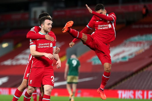 Liverpool's Diogo Jota and Roberto Firmino (Photo Credit: Twitter)
