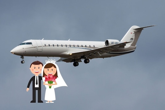 US Chartering company is hosting wedding in the flight.