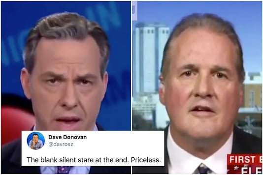 CNN news anchor slays conservative panelist who tried to claim one has to swear on the Christian Bible in order to be sworn in to Senate in US   Image credit: Twitter