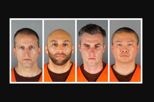 FILE - This combination of photos provided by the Hennepin County Sheriff's Office in Minnesota on Wednesday, June 3, 2020, shows from left, former Minneapolis police officers Derek Chauvin, J. Alexander Kueng, Thomas Lane and Tou Thao. The trial of the four former officers charged in the death of George Floyd is expected to generate massive public interest when it begins in March. (Hennepin County Sheriff's Office via AP)