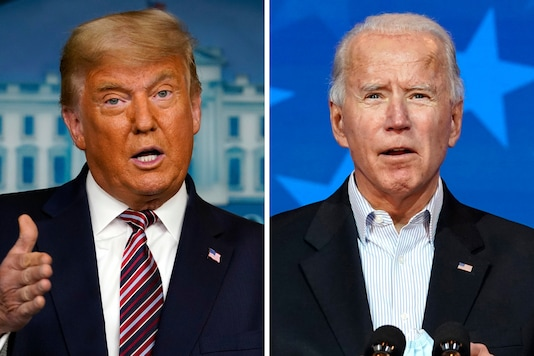File photos of President Donald Trump, and Democratic candidate and former vice-president Joe Biden