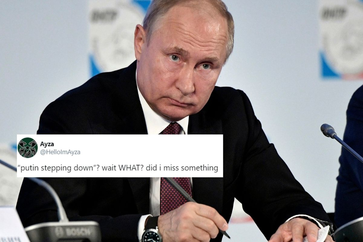 Putin Resigning Twitter In Disbelief As Reports Say Russian President Plans To Step Down Next Year