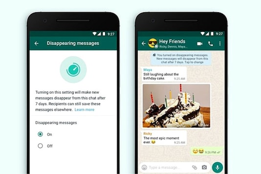 WhatsApp Disappearing Messages feature.