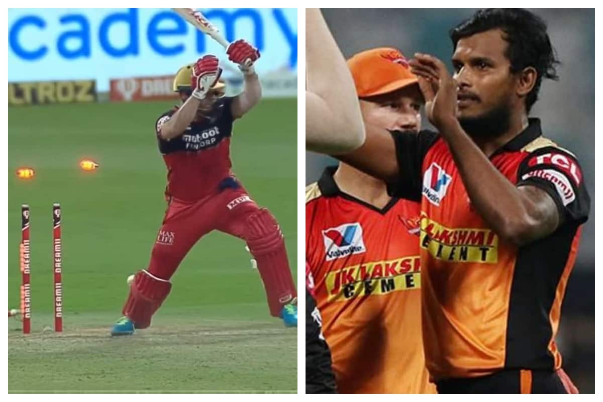 SRH vs RCB IPL 2020: WATCH  - AB de Villiers Has No Answer to T Natarajan's Sensational Yorker; Twitter Hails the Yorker King
