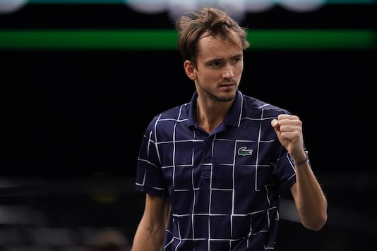 Daniil Medvedev (Photo Credit: Paris Masters Twitter)