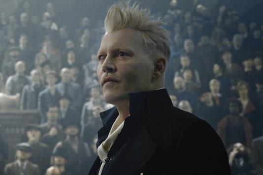 Johnny Depp in a still from Fantastic Beasts film series. (Image credit: Instagram/Johnny Depp)