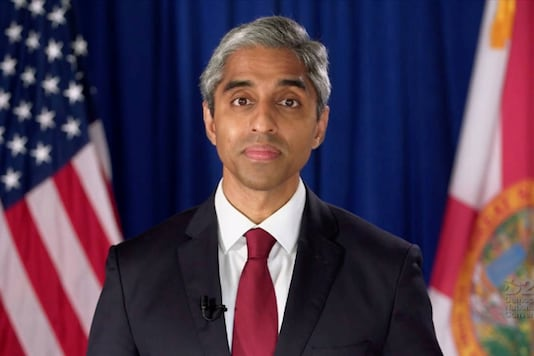 Former Surgeon General of the United States Dr. Vivek Murthy speaks by video feed during the 4th and final night of the 2020 Democratic National Convention, on August 20, 2020. (Reuters)