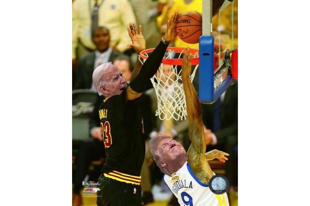 LeBron James Shares Basketball Meme as Joe Biden Beats ...