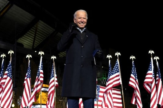 In this file photo, Joe Biden gestures after speaking at a rally in Pittsburgh, Pennsylvania. (AFP)