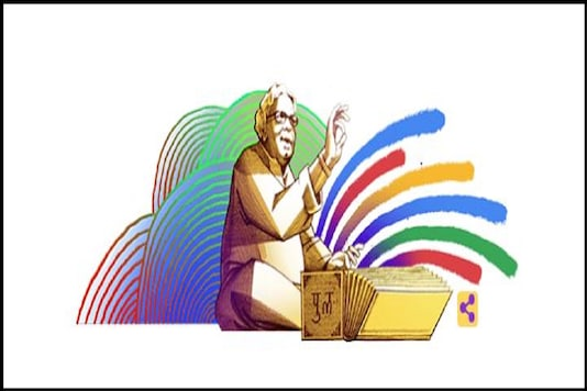 Google doodle on Indian writer Purushottam Laxman Deshpande today.