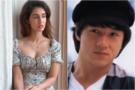 Disha Patani (L), Jackie Chan