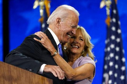 File photo of Jill Biden with husband Joe Biden.