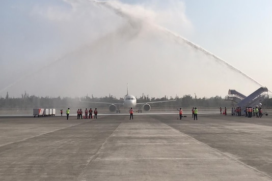 Vistara Dehradun Flight. (Image source: Twitter/Dehradun Airport)