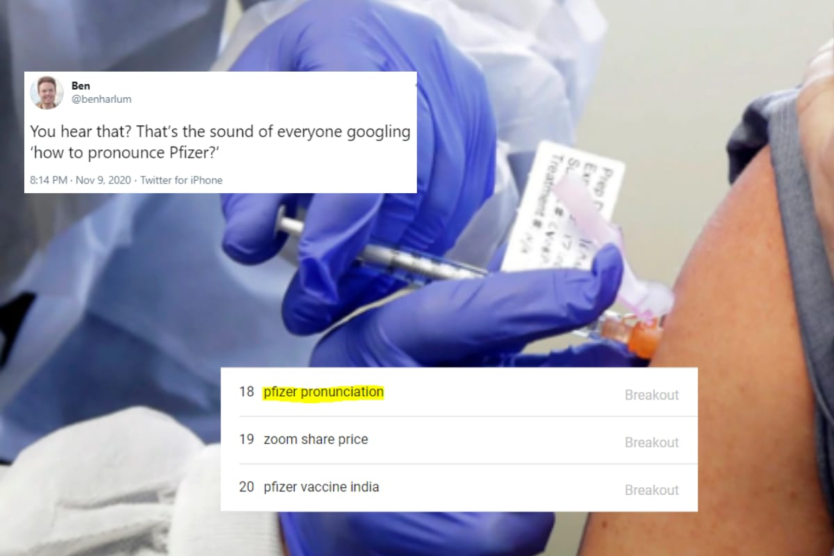 Coronavirus Vaccine Hopes are High With 'Pfizer' But Twitter is Trying to Learn its Pronunciation