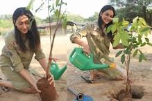 Rakul Preet Takes Up Naga Chaitanya's Green India Challenge, Plants Sapling
