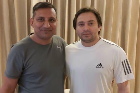 Tejashwi Yadav with Sanjay Yadav