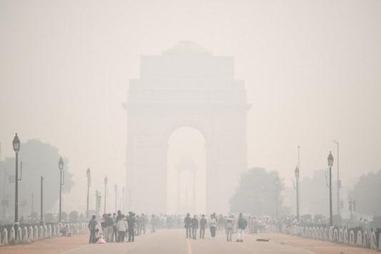 The India Gate in Delhi shrouded in haze. (AFP)